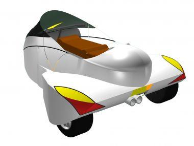 """GT Reims"" 3 Wheel Motorbike"