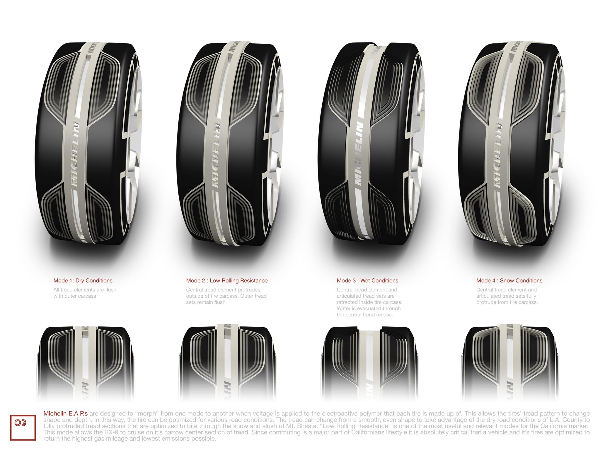 P Design: Michelin E.A.P. Tire System By James Owen, USA