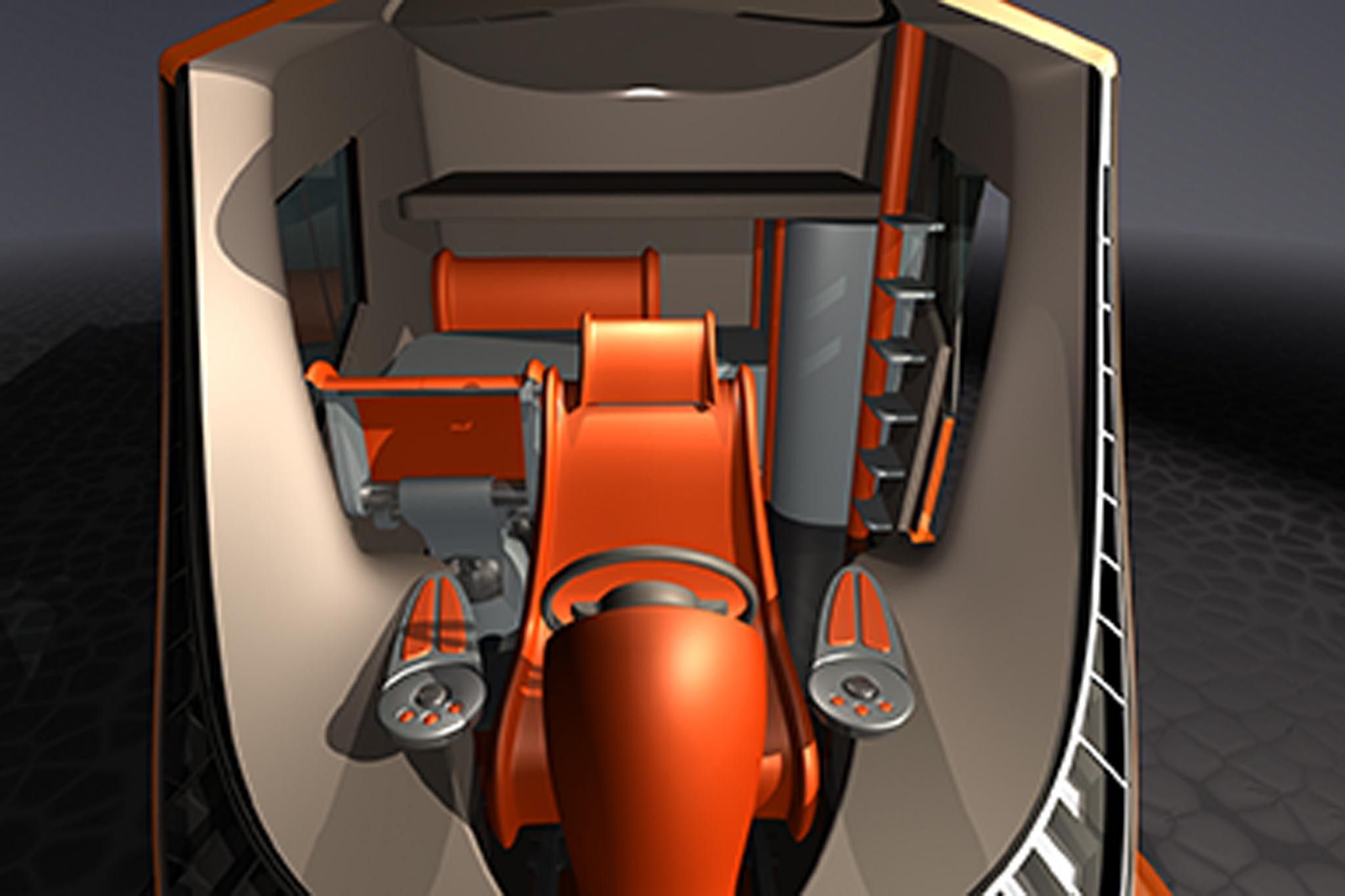 Truck Cab Inside >> BeeVan by Volvo Trucks North America, Paul Daintree, USA | Michelin Challenge Design