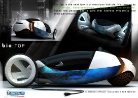 Bio Top - an Electrical and Fashion Urban Car