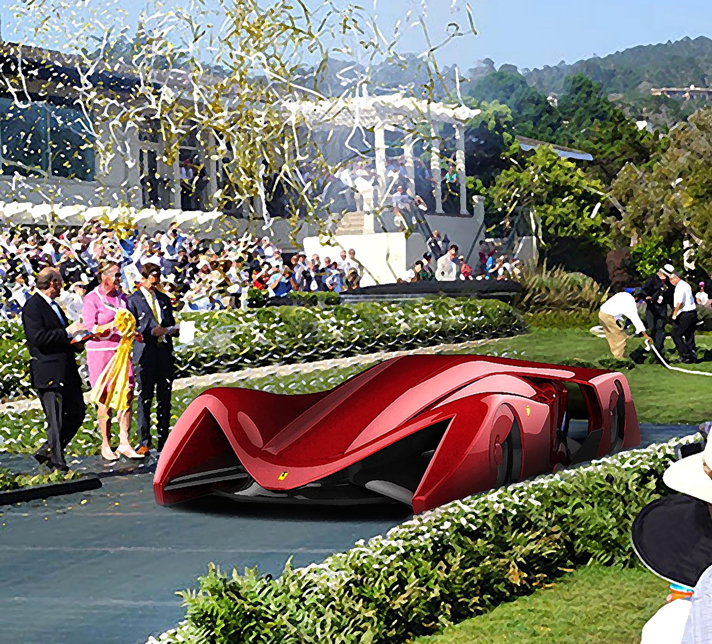 Ferrari Gothica Rossa 2025 Electric Hypercar Concept By