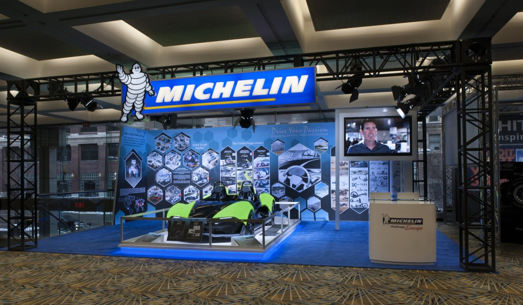 2015 Michelin Challenge Design display at the North American International Auto Show